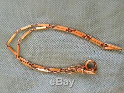 Antique Victorian 14K Gold Pocket Watch Chain- Links 8.8 Grams
