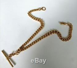 Antique Victorian 9Ct Rose Gold Double Albert Watch Chain / Necklace. 48 Grammes
