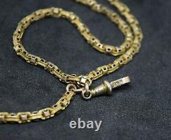 Antique Victorian 9ct Gold Fancy-Link Albert Pocket Watch Chain And Tassel Fob