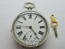 Antique Waltham 18s Fusee Solid Silver Pocket Watch Chain Working Rare