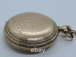 Antique Working 1899 ELGIN Gold G. F. Full Hunter 15J Pocket Watch 18s with Chain