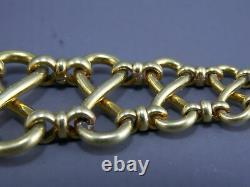 Antique art nouveau pocket watch chain & fob with spider Beautiful rolled gold