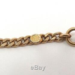 Art Deco 14K Gold Solid Cowen Pocket Watch & Chatelaine Chain 23 grams