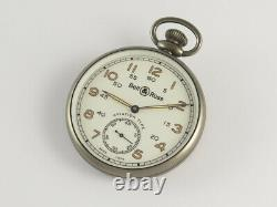 BELL & ROSS PW1 HERITAGE POCKET WATCH with CHAIN