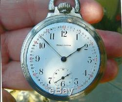 Burlington Railroad 19j- Pocket Watch And Anitique Solid Silver Chain & Fob