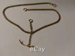Beautiful 14K Solid Gold Pocket Watch Chain