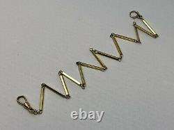 Beautiful Antique Solid 14k Yellow Gold Pocket Watch Fob Chain 14