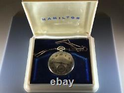 Boxed Hamilton 12 sz with Chain Excellent Condition