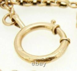 Chain For Pocket Watch Antique Fine'800 IN Gold Solid 18K Made in Italy