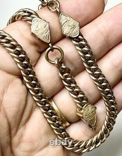 Chunky Pocket Watch Chain, Victorian Chain, Gold Fill, Antique Jewelry