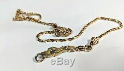 Edwardian Victorian 14k Solid Gold Pocket Watch Eagle & Snake Fob Chain AWESOME