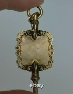 Exceptional Antique Victorian 10K Gold Pocket Watch Chain Key Fob