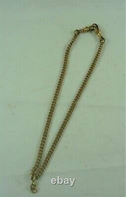 Fabulous Antique Estate Gold Plated Albert Fob Pocket Watch Chain C 1910 #18931