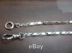 Fine Antique/Vintage 14K White Gold Watch Chain Fob ART Deco Heavy SOLID GOLD