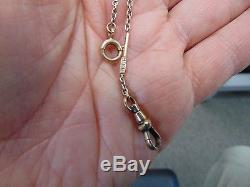 Genuine Antique 14ktgold Solid Pocket Watch Chain (7301-gold-may)