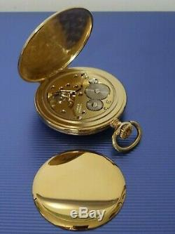 Garrard Gold Plated Presentation Open Face Pocket Watch With Chain & Box Working
