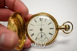 Hampden, Rosenkrans and Thatcher, Solid 14K Gold 1890s Pocket Watch & 14K Chain