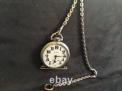 Illinois Bunn Special Model Pocket Watch 21j 14k Gold Fill With Matching Chain