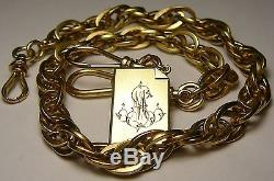 Imperial Russian Solid Gold 56 (14k) Poker Watch Chain RARE 1897 St. Peterburg
