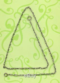 Long Vintage Solid Silver Pocket Watch Chain 67 CM