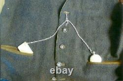 Longines Silver Case Pocket Watch/anitique Solid Silver Chain & Fob