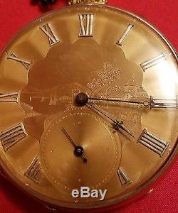 M. I. Tobias Chain Driven Pocket Watch Liverpool 18kt Fusee Nice Engraving Rare