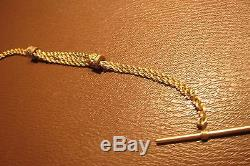 MINT Multicolor Enameled 16K Solid Gold Pocket Watch Chain Scrap/Use 15g