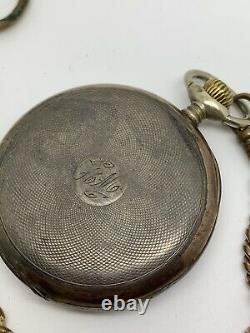 Mechanical Omega Working Solid Pocket Watch With Chain Jens Thomsen Veil