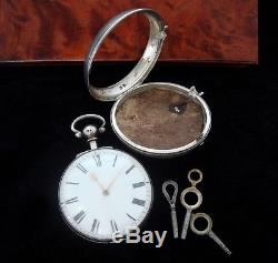 Men's 1830 Sterling Chain Driven Verge Fusee Pocket Watch