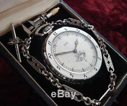 Men's 1927 Ball Watch Co. Pocket Watch with Chain & Presentation Box SERVICED