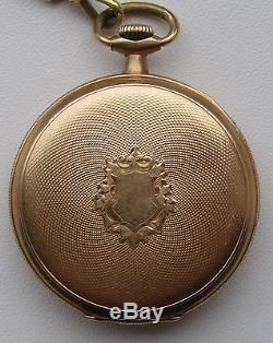 Old Antique Pocket Watch Waltham USA Gold Plated With Chain