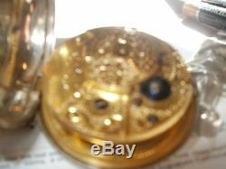Pocket Watch Antique 1790 Chain Drive London Great