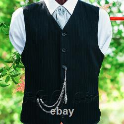 Peaky Blinder s Silver Colour Single Albert Pocket Watch Chain With Pendant 144