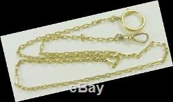 Pocket Watch Chain Vintage 14Kt yellow Gold 22 Long