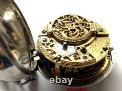 Pocket Watch REPOUSSE CHAMPLEVE Fusse Chain ORDER OF GARTER 1738