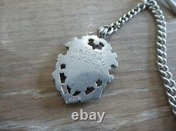 Quality Antique Sterling Silver Single Albert Pocket Watch Chain