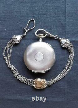 Silver Pocket Watch Omega with a chain