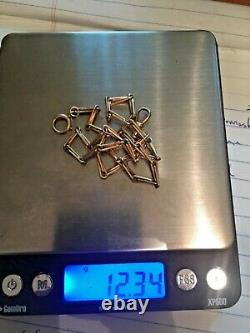 Solid 14k Gold Watch / Pocket Knife Fob Chain Heavy 12.34 Grams Not Scrap