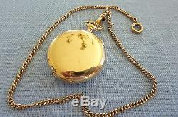 Solid Gold, Double Hunter, Shreve & Co, 14K, 17 Jewel Pocket Watch and Chain