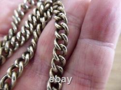 Superb Antique Solid Sterling Silver Double Albert Pocket Watch Chain