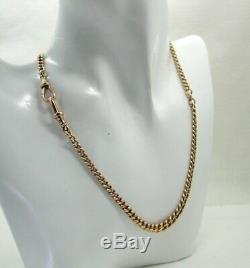 Superb Condition Antique 9 carat Rose Gold Double Albert Watch Chain