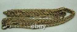 Superb Quality Antique 9 Carat Rose Gold Watch Guard / Muff Chain 56 Inches