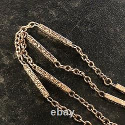 Unusual Antique 10ct Rose Rolled/Plated Gold Fancy Albert Pocket Watch Chain