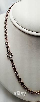 VICTORIAN, 17, Pocket Watch Chain in 10K yellow Gold / weighs 25.3 grams