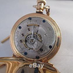 Vintage 1890 Elgin Pocket Watch 3956509 Model 2 11 Jewel Size 18s With Chain