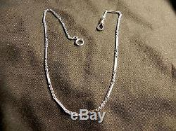Vintage But New 14k White Gold 14.5 Pocket Watch Fob Chain Buy Now Or Offer