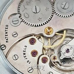 VINTAGE CYMA MILITARY POCKET WATCH WHITE DIAL with chain working perfect 52mm