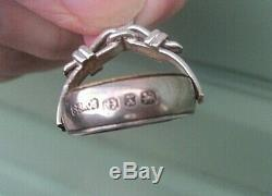 Victoian Sterling Silver Watch Chain Fob SPINNER h/m 1897 Working Compass