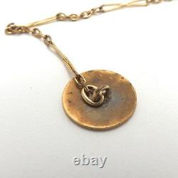 Victorian 14K Gold Filled Cable Link Pocket Watch Chain Engravable Fob
