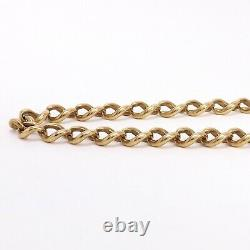 Victorian 14k Gold Solid Graduated Curb Link Pocket Watch Chain 17in